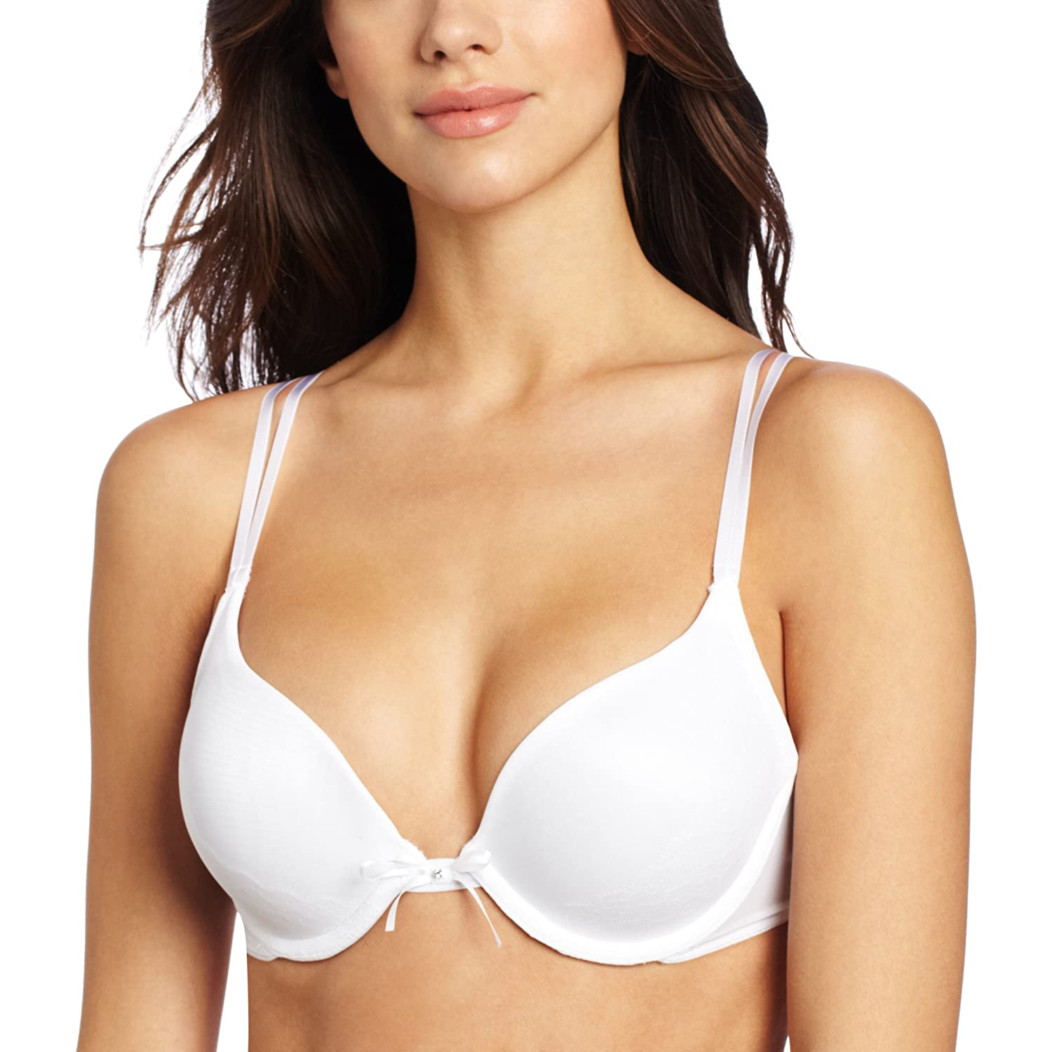 Vassarette Women's Lace Overlay Push Up Bra 75375 at Amazon ...