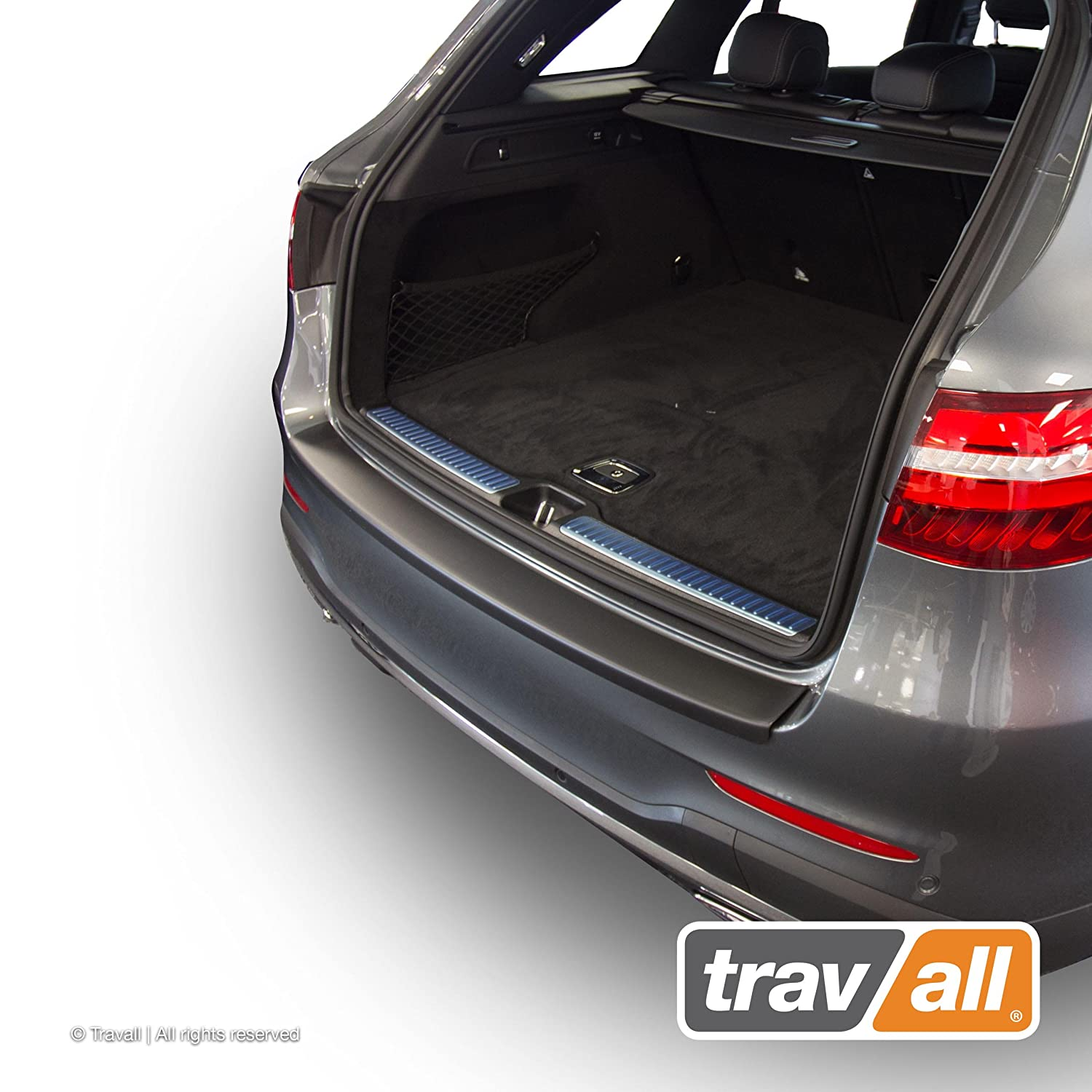 Travall Protector TBP1091P Smooth Vehicle-Specific Black Plastic Moulded Rear Bumper Protector