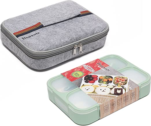 Amazon.com: donxote cajas bento set – 4 compartimentos a ...