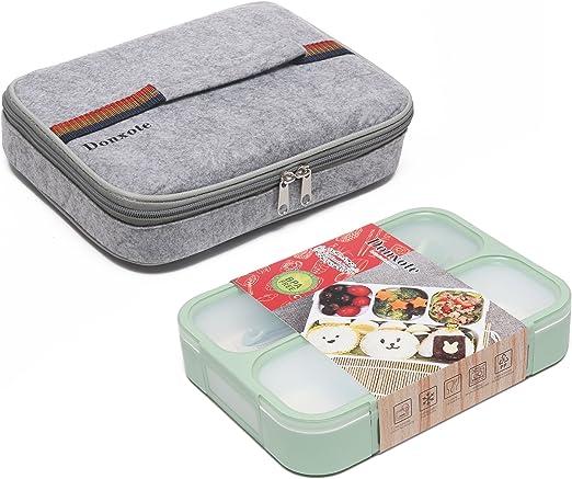 Amazon.com: donxote cajas bento set – 4 compartimentos a ...