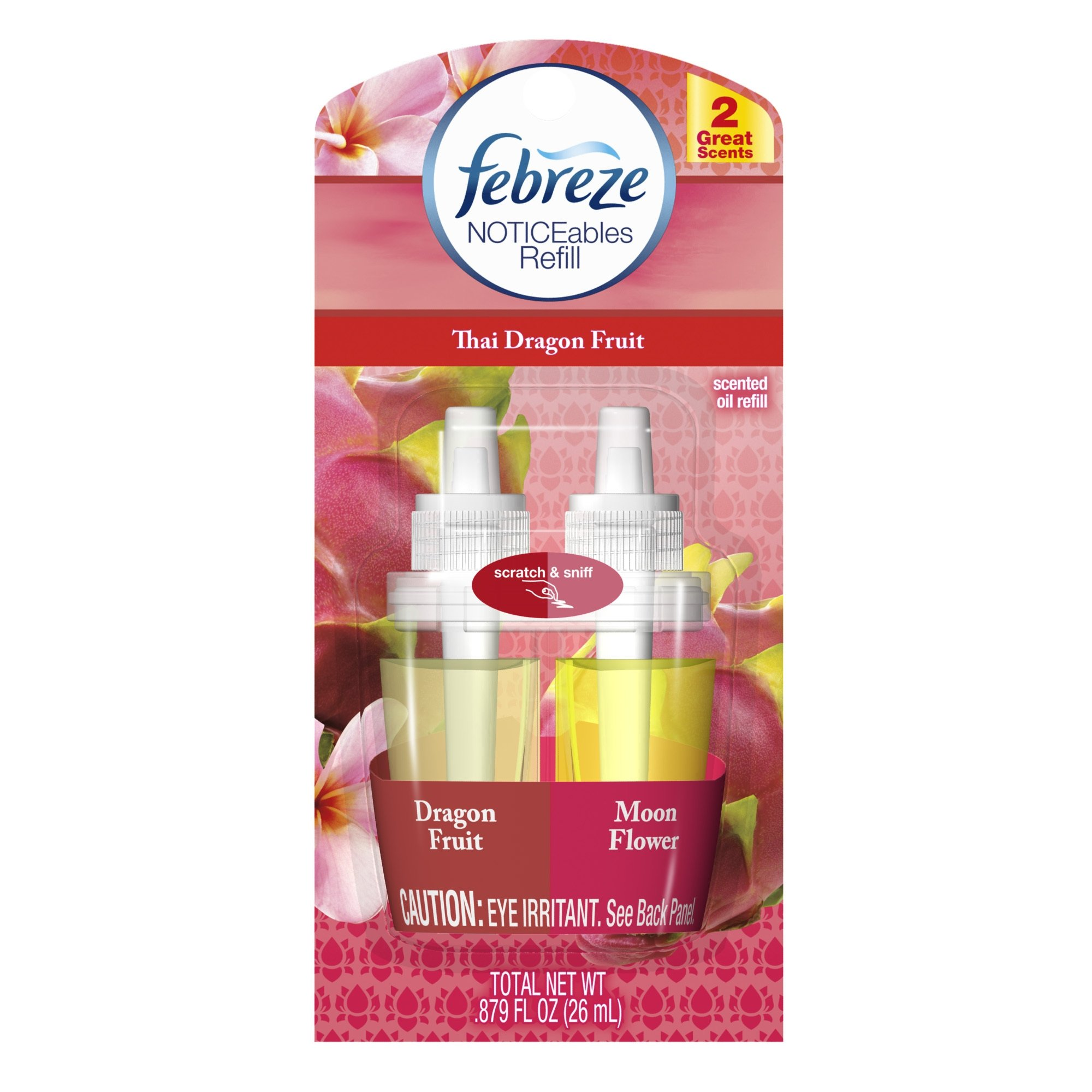 Febreze Noticeables Thai Dragon Fruit Air Freshener Refill (0.879 Fl Oz)
