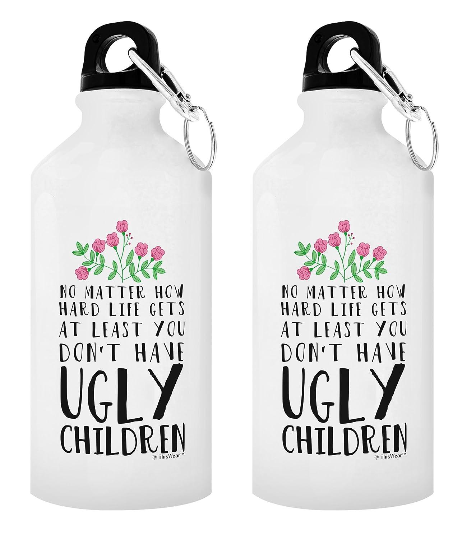 ThisWear Funny-Geschenke für Freunde, Sie haben Gesicht Kinder Aluminium Trinkflasche mit Sport-& Top