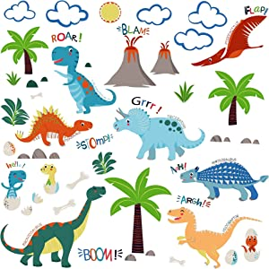Jurassic World Dinosaurs Decorative Peel & Stick Wall Art Sticker Decals for Boys Room or Nursery