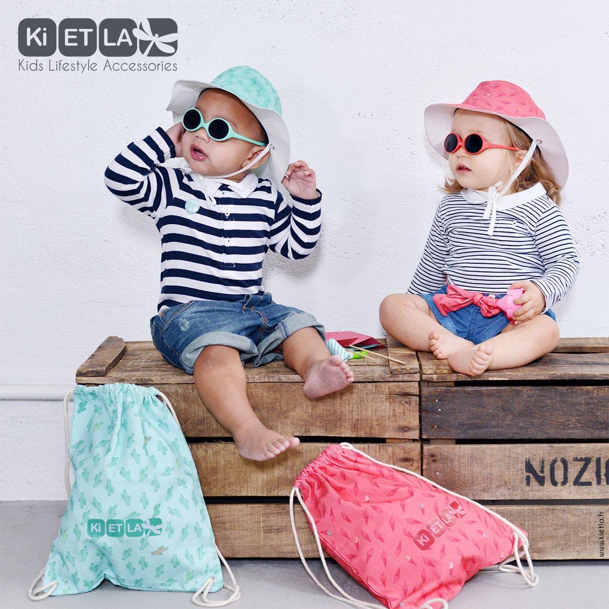 Gafas de sol y gorro anti-UV 0-18 meses Kit playa para b/ébes Kit Sun Set Ki ET LA Color frambuesa