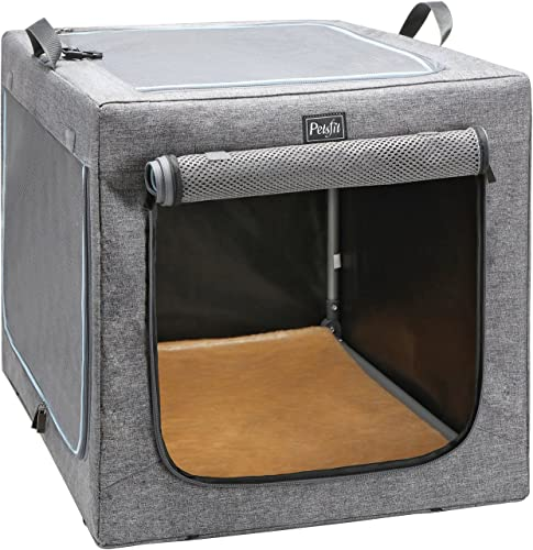 Best dog crates for travel: Petsfit Travel Pet Home Indoor/Outdoor for Dog Steel Frame Home, Collapsible Soft Dog Crate