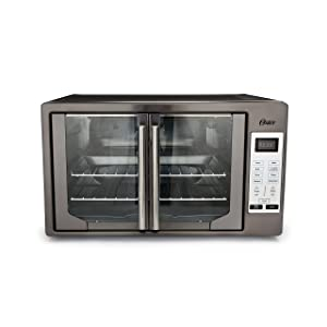 Oster TSSTTVFDDG-DS Black Stainless Steel Collection French Door Oven Extra Large