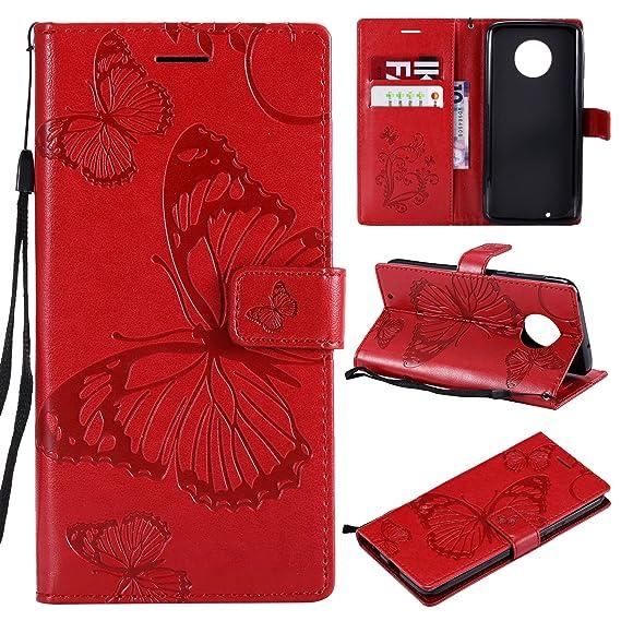 low price 16a08 05576 Motorola Moto G6 Wallet case,Ankoe Pretty Retro Butterfly Flower Design Pu  Leather Book Style Wallet Flip Case Cover Motorola Moto G6, Motorola G6 ...
