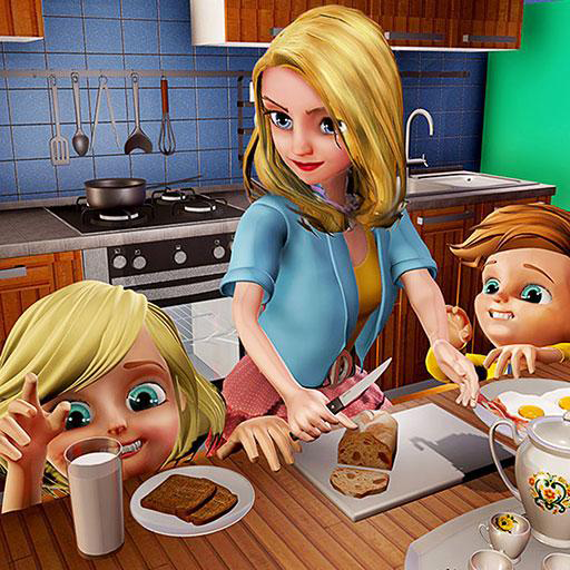Virtual Mother Family Fun Simulator 3D: Happy Family Mom Kids Baby Care Adventure Games Free For Kids 2018 -