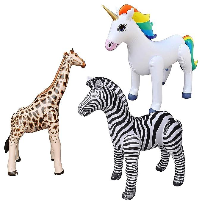 Amazon.com: Jet Creations - Juego de 3 unicornios de cebra ...