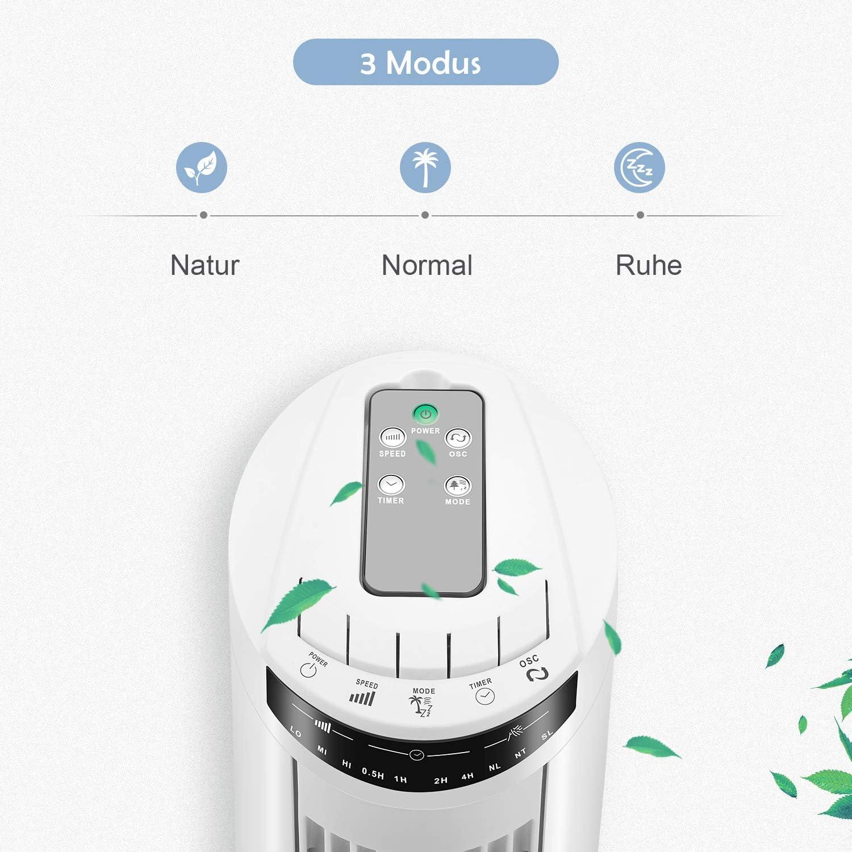 Famgizmo Ventilador de Torre Digital 74cm Temporizador 2h 45w Motor de Cobre 3 Velocidades Silencioso