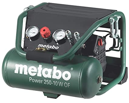 Metabo Power 250-10 W OF - Compresor 2 CV 10 litros sin aceite,