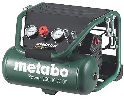 Metabo Power 250-10 W OF - Compresor 2 CV 10 litros sin aceite, especial construcción