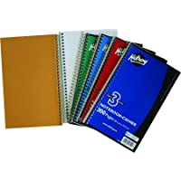 Hilroy Coil 3-Subject Notebook, Wide Ruled, 9.5 X 6 Inches, 300 Pages, Assorted Color Covers (06909)