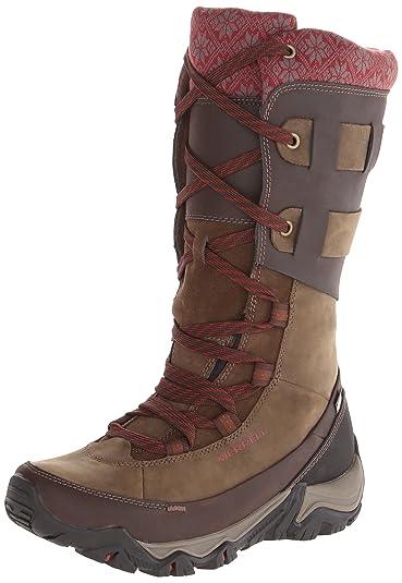 38c8bba541 Merrell Women's Polarand Rove Peak Waterproof Winter Boot