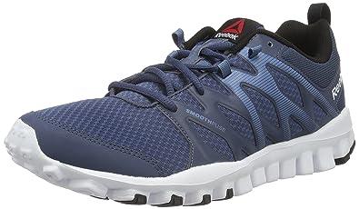 online store c92b9 df5c3 Reebok Men s Realflex Train 4.0 Royal, Slate, White and Black Multisport  Training Shoes -