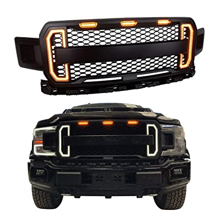 Amazon Com Front Grille For Ford F 150 2018 2019 With Amber