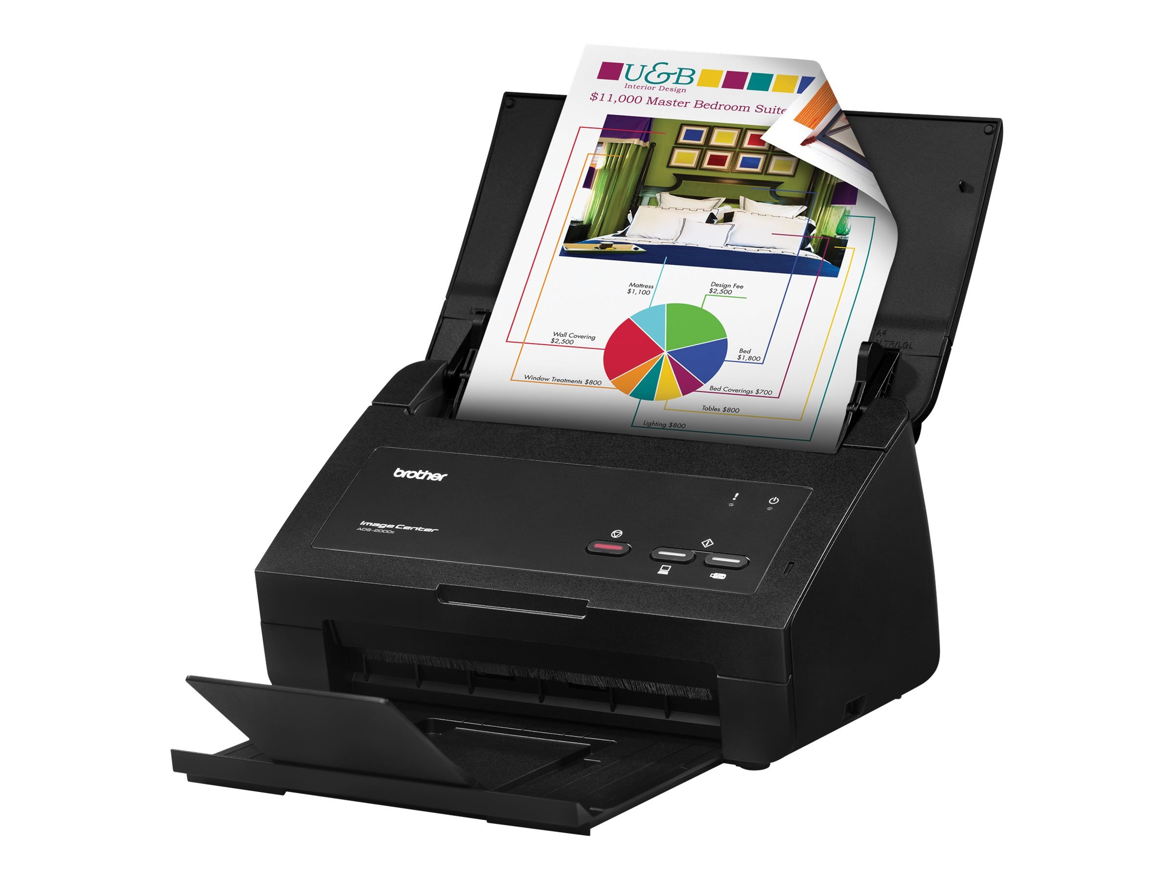 Brother ImageCenter ADS-2000e High Speed Desktop Document Scanner by Brother