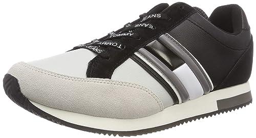 Hilfiger Denim Casual Retro Sneaker Scarpe da Ginnastica Basse Uomo 31a2d0d452c