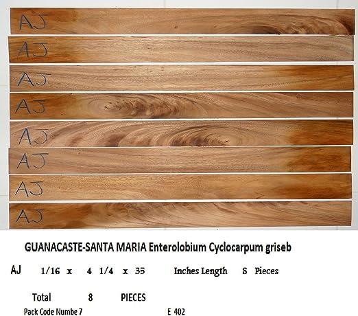 8 bookmatched Santa Maria chapa de madera para guitarras, lijado ...