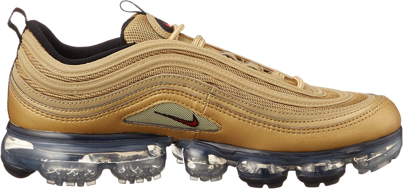 NIKE Air Vapormax 97 Schuhe Sneaker Metallic Gold / Varsity Red