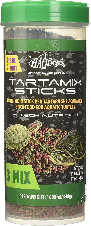 Haquoss tartamix Sticks Alimento de Sticks flotantes para Tortugas acquatiche, 1000 ml/340 gr