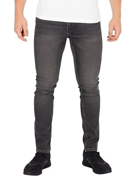 JACK & JONES Hombre Liam Original 007 Skinny Jeans, Gris