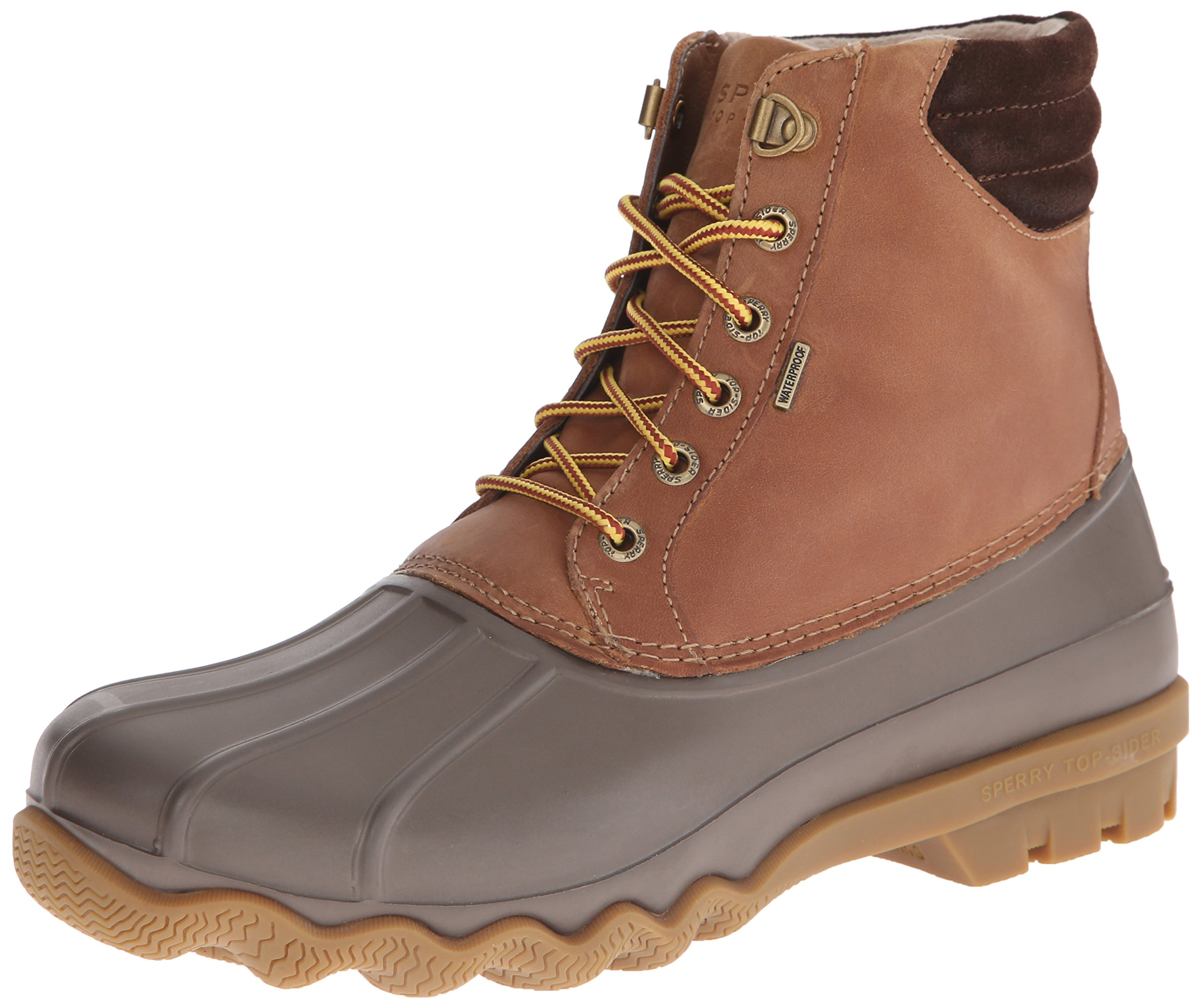 Sperry Mens Avenue Duck Boots, Tan/Brown, 10 by SPERRY