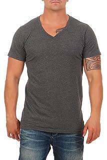 5f4f0bf908a4e7 Happy Clothing Herren T-Shirt Rundhals Meliert Comfort Bügelfrei ...