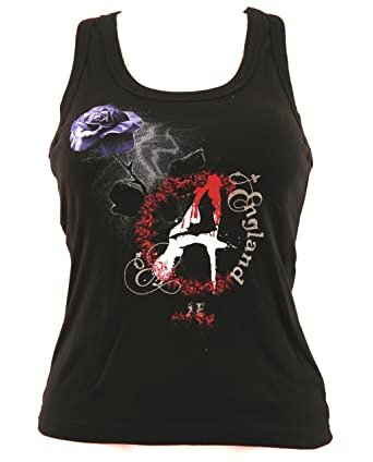 c777b34ae975 Girlie Shirt Gothic Tank-Top Größe XS schwarz Baumwolle Siebdruck Alchemy  England