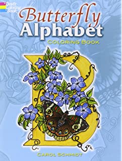 Butterfly Alphabet Coloring Book Dover Books
