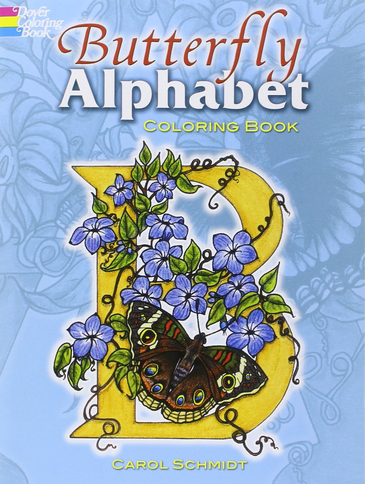 butterfly alphabet coloring book dover coloring books carol