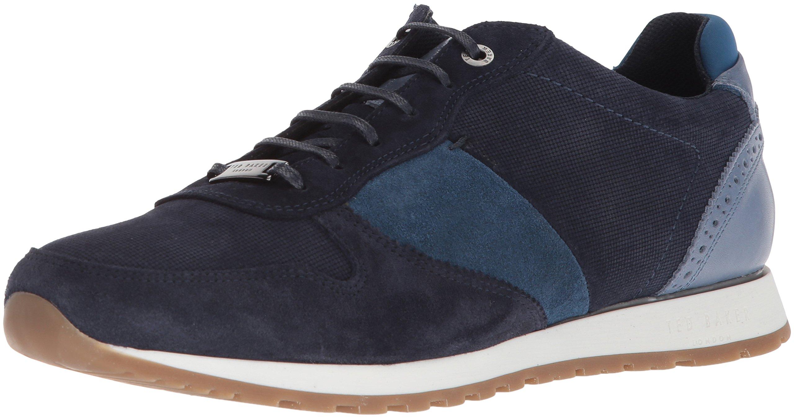 Ted Baker Men's Shindl Sneaker, Blue/Multi Suede, 7 D(M) US
