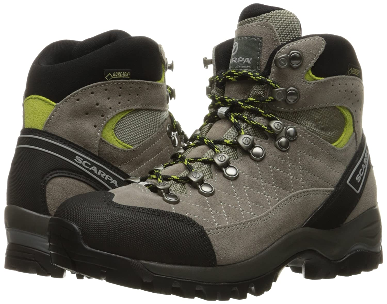 SCARPA Women's Kailash Gore-TEX Hiking Boot B00LM6NS6Y 39 M EU / 7.5 B(M) US|Taupe/Acid