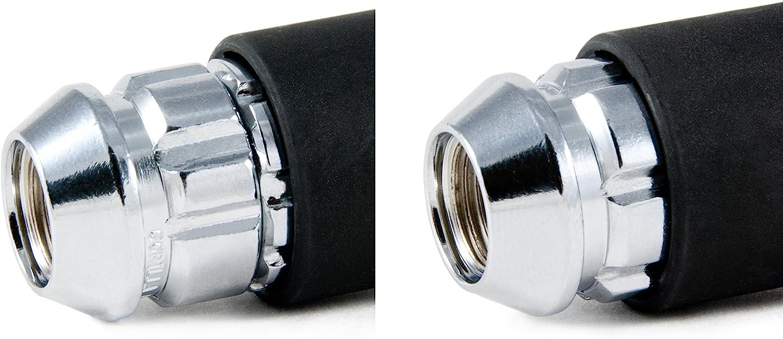 Gorilla Automotive 71631X 12mm x 1.50 Thread Size Acorn Chrome X2 Wheel Lock, Pack of 4