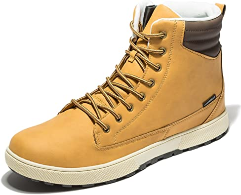 Work Boots Leather Waterproof Shoes