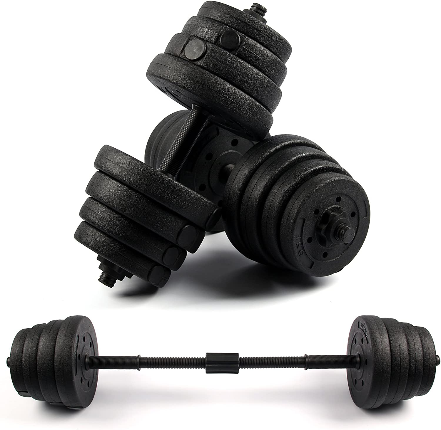 Shoze 30Kg Dumbells Gym Weights Barbell Dumbbell Body Building Free Weight Set for Fitness And Exercise
