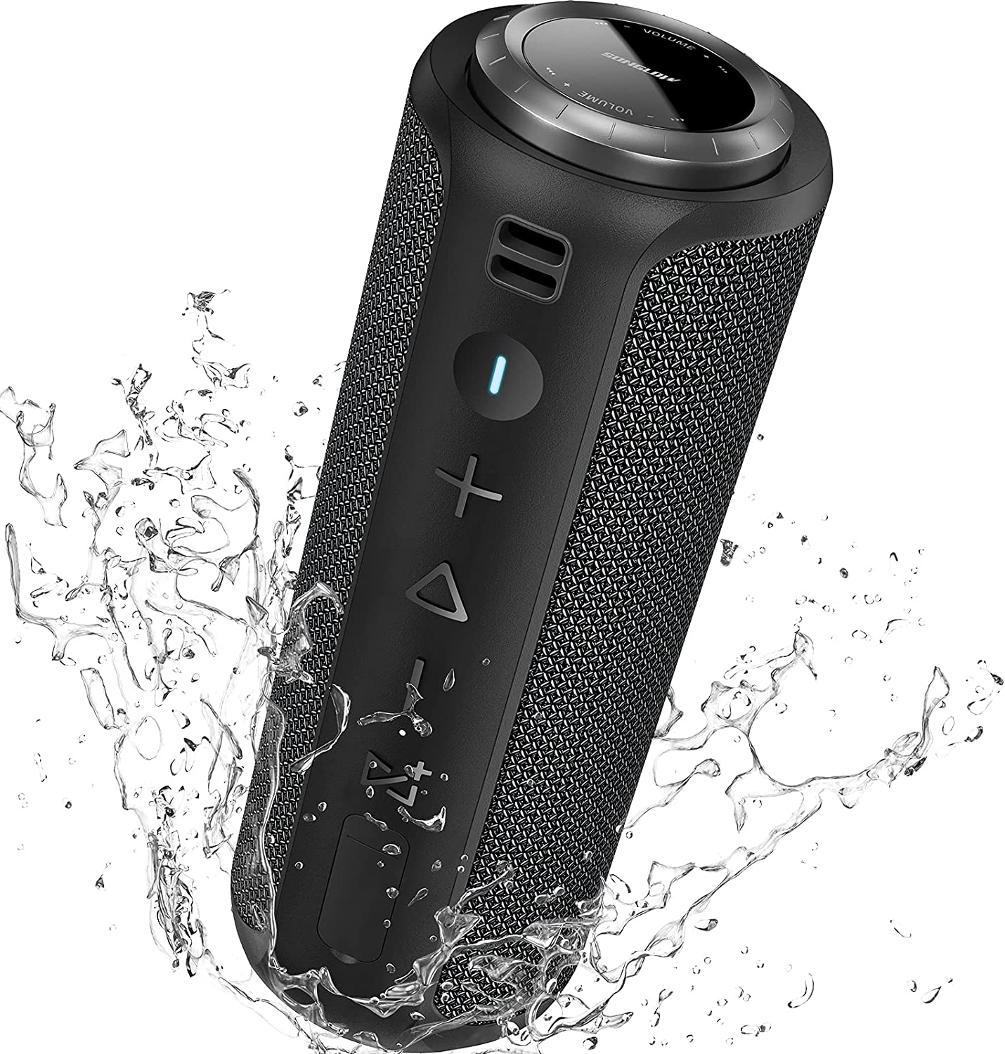 SONGLOW Bluetooth Speaker Portable 40W: IPX7 Waterproof Outdoor Speakers Bluetooth Wireless 5.0 with Loud Stereo Sound & Deeper Bass & Multi Pairing & 12H Playtime & Ideal for Home Party