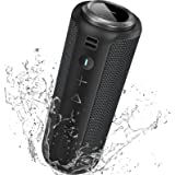 Speakers Bluetooth Wireless Loud 40W: SONGLOW Portable Bluetooth Speakers IPX7 Waterproof with Enhanced Bass & 12H Playtime &