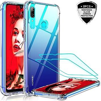 LeYi Funda Huawei P Smart 2019 / Honor 10 Lite con 2-Unidades Cristal Vidrio Templado, Cristal