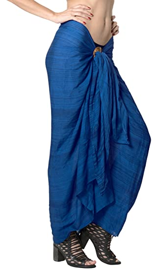 be79b569816a1 LA LEELA Rayon Swimwear Towel Womens Sarong Tie Dye 78 quot X43 quot  ...
