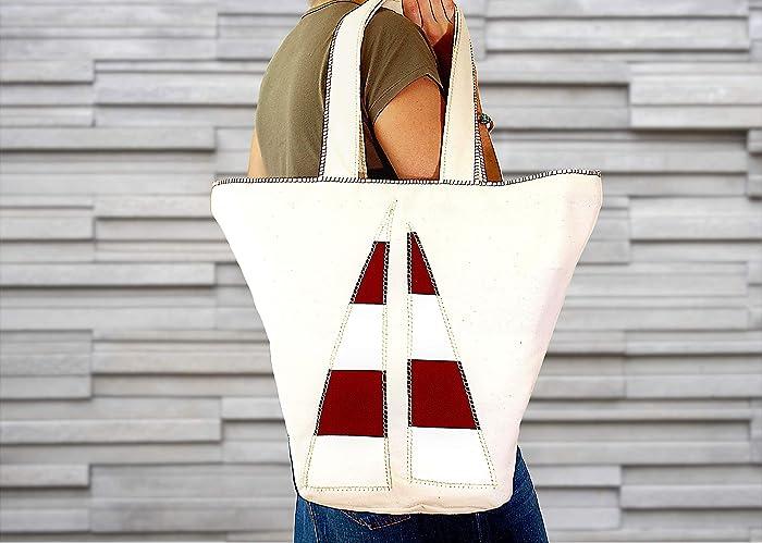 Bolsa de playa reversible algodón orgánico: Amazon.es: Handmade