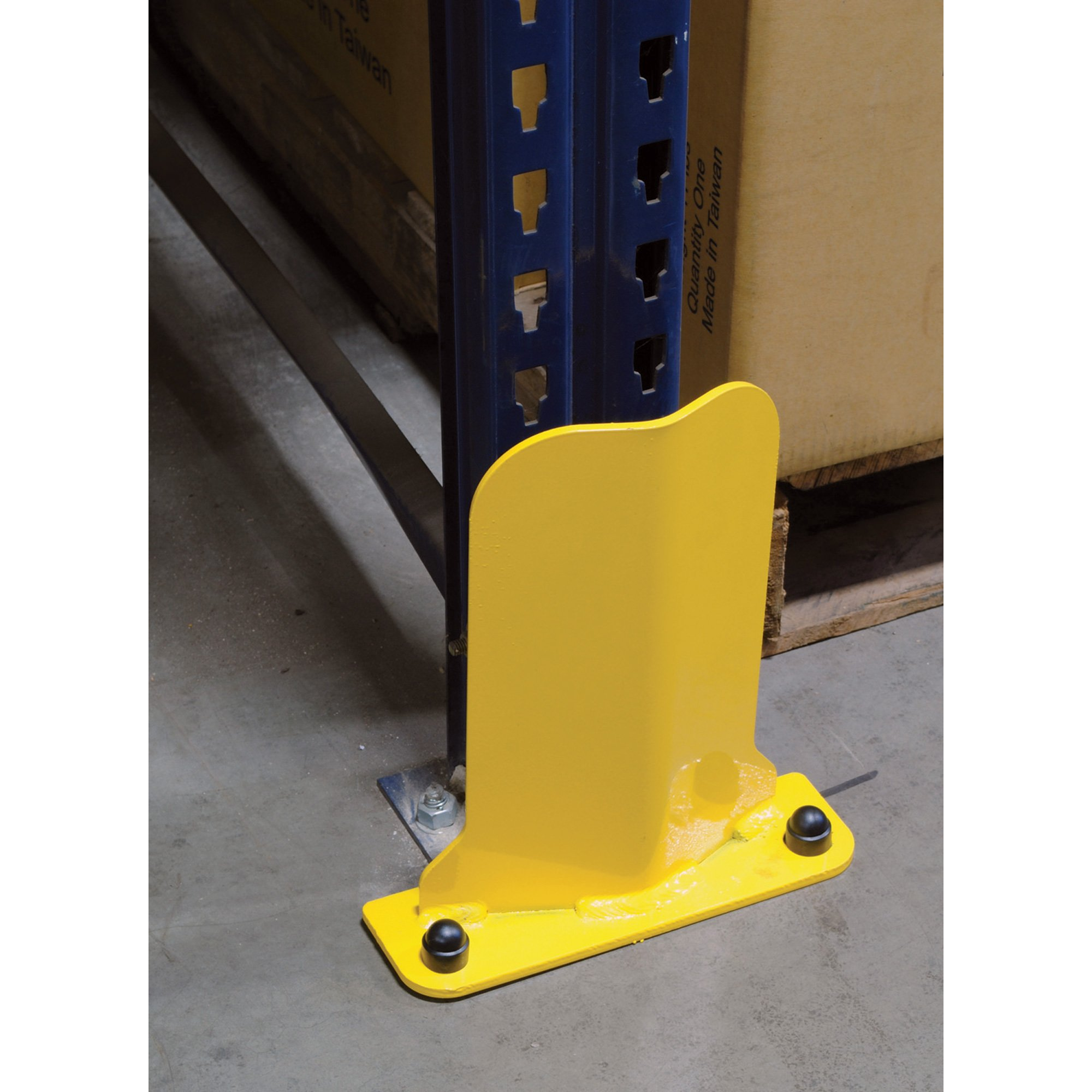 Vestil Low-Profile Rack Guard - 23 7/8in.H, 6 1/4in.W x 1in.D Usable Opening, Model# NPG6-24