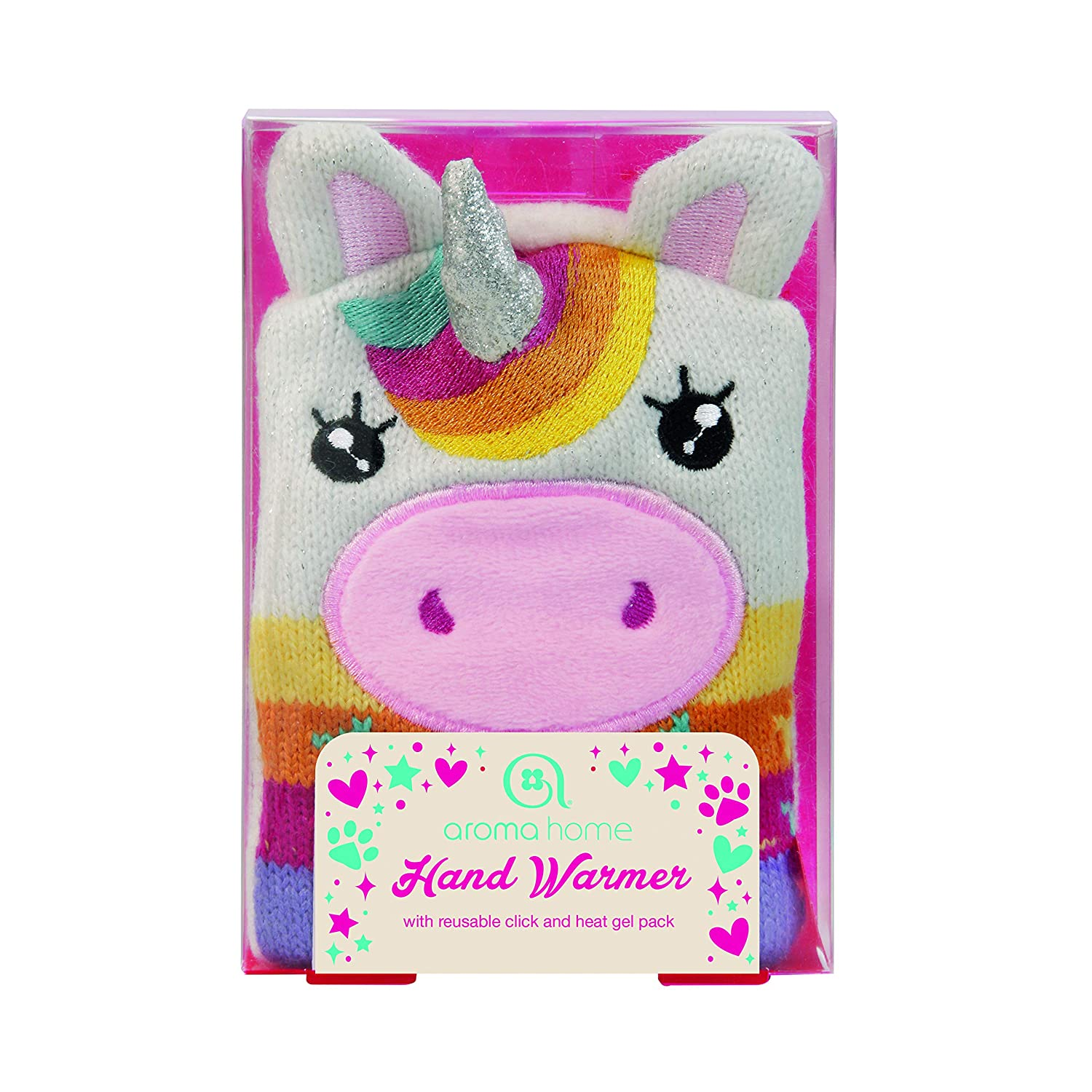 Aroma Home Novelty Knitted Reusable Unicorn Single Hand Warmer