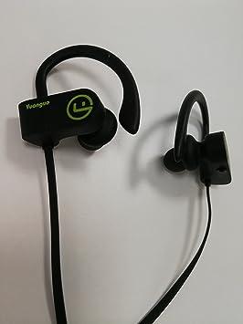 HolyHigh Auriculares de diadema con Bluetooth para gimnasio, correr, entrenamiento, color negro: Amazon.es: Electrónica
