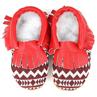 Augusta Baby Soft Sole Fringed Baby Boy Girl Shoes