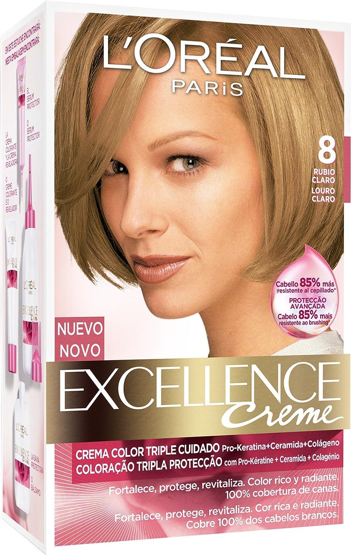 EXCELLENCE tinte Rubio Claro Nº 8 caja 1 ud: Amazon.es: Belleza