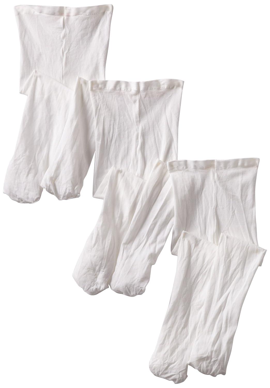 Jefferies Socks baby-girls Baby Smooth Skin Tights 3 Pair Pack White 0-6 Months 1433