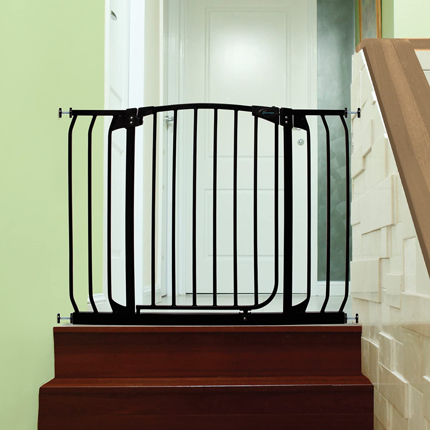 1 gate Dreambaby Chelsea Safety Gate Set fits 71cm-98cm White 2 extensions