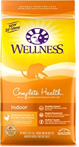 Wellness Complete Health Natural Dry Cat Food, Indoor Chicken Recipe, 6-Pound Bag