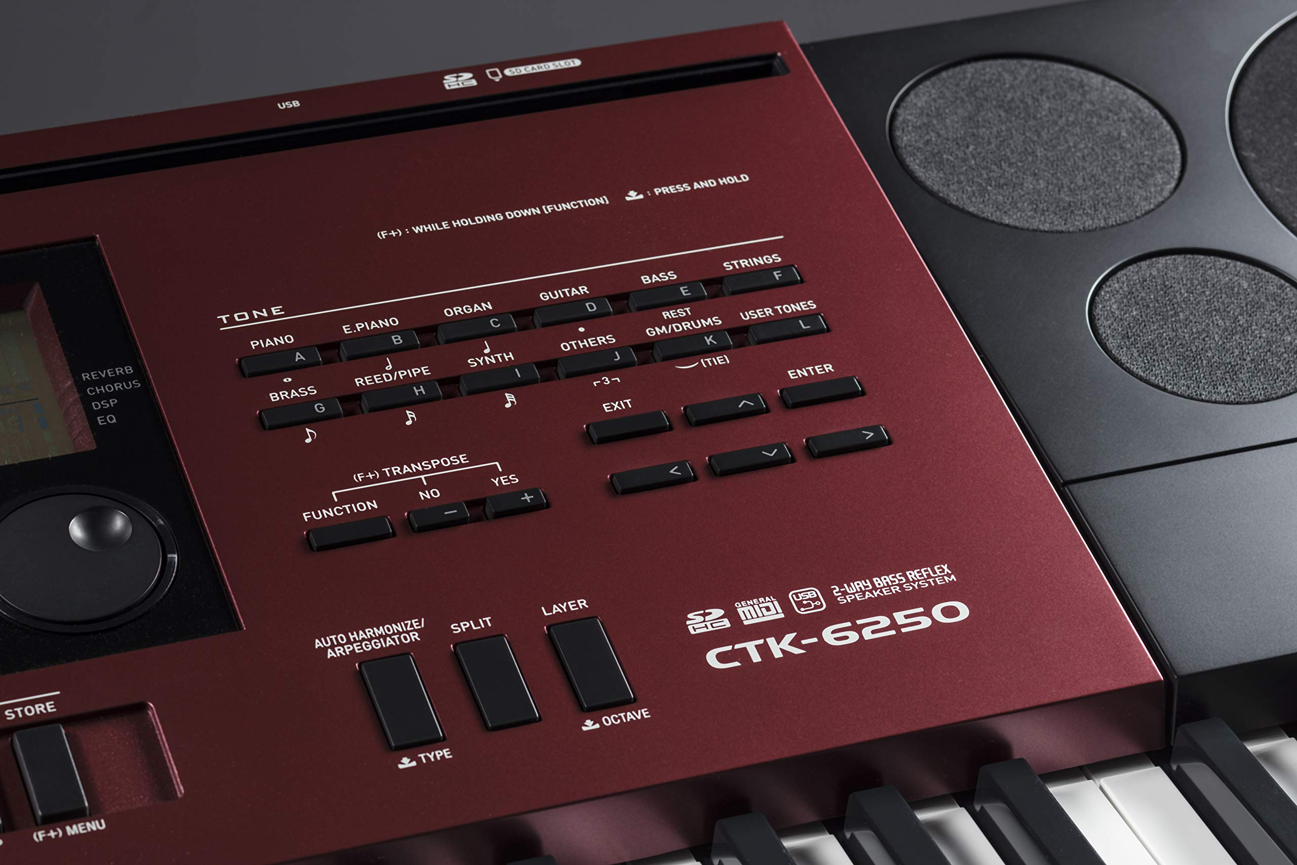 Casio CTK 6200 VS Casio CTK 6250 Panel